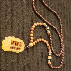 Wooden Chinese Abacass Necklace